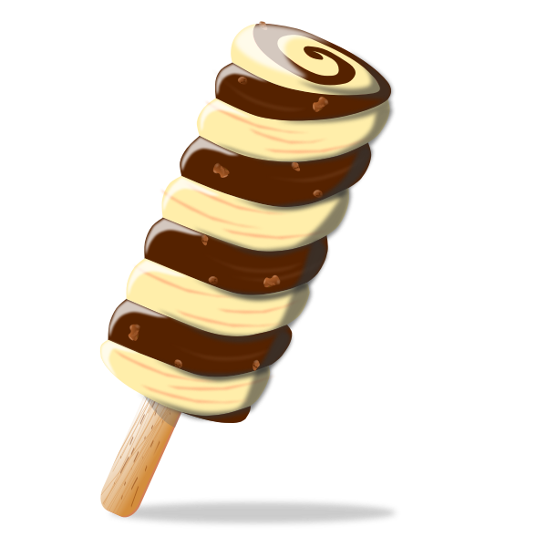 Twisted ice cream vector image