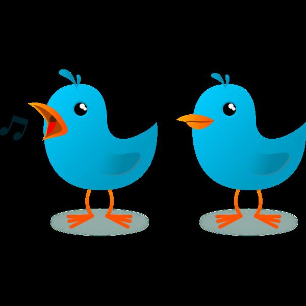 Singing bird mascot image