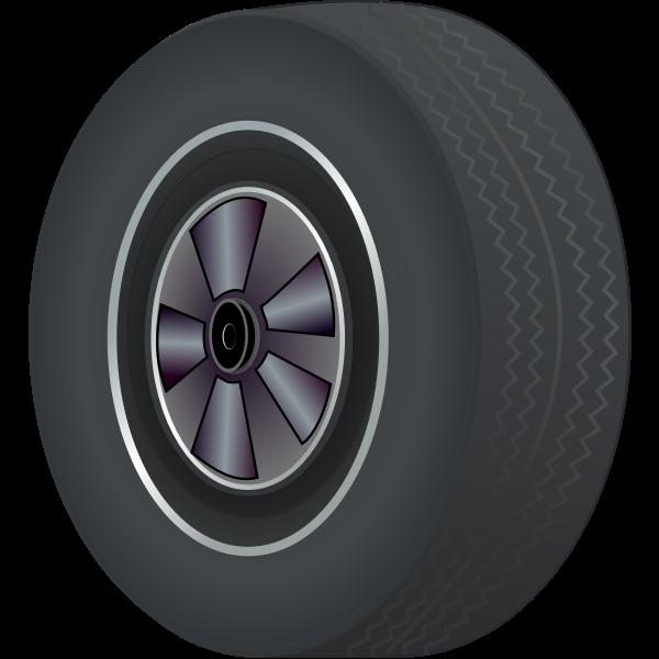 Car tire vector illustration