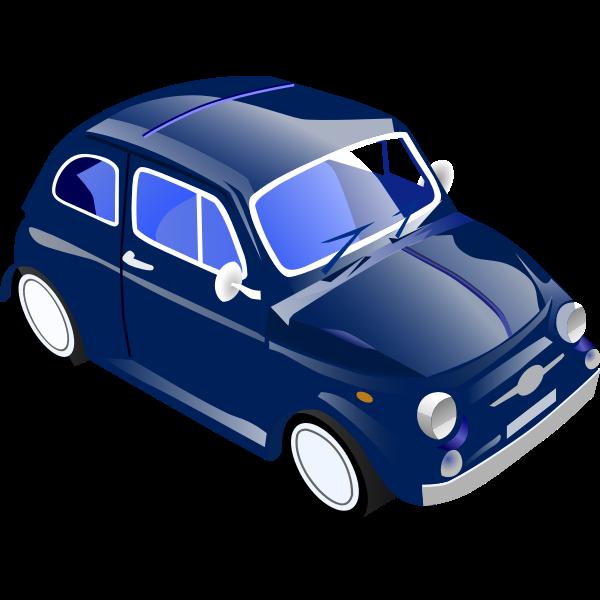 Fiat 500 vector graphics