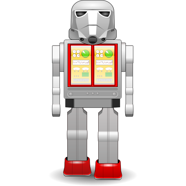 Startoy robot vector image