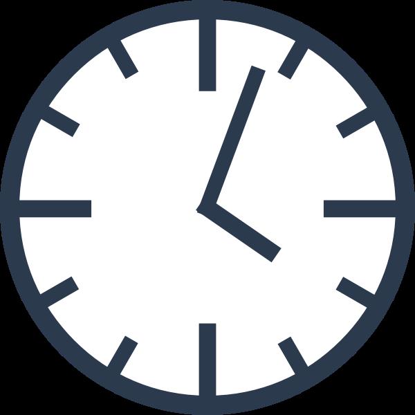 Simple clock vector graphics
