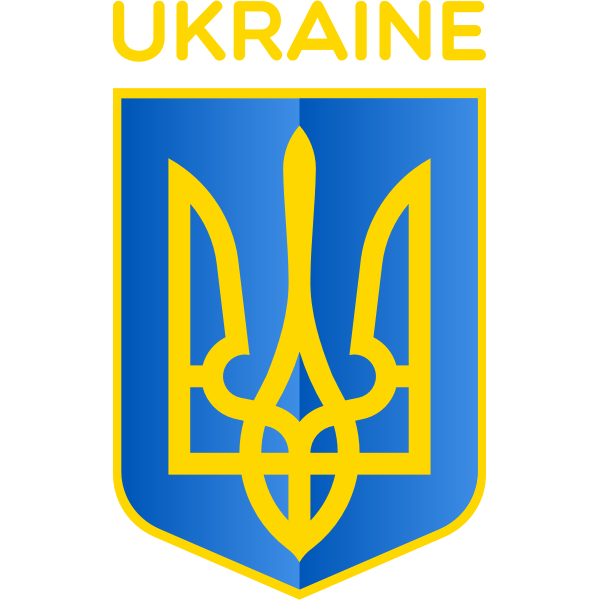 Vector image of coat of arms of Republic of Ukraine
