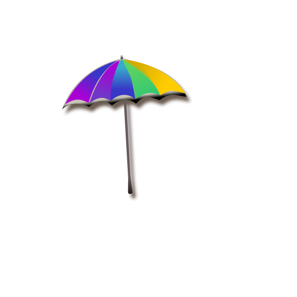 Vector graphics of rainbow umbrella