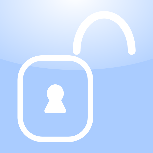 Vector drawing of application unlock icon with a keyhole sign