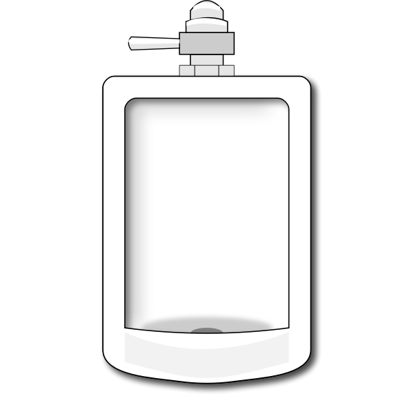 Vector graphics of restroom urina