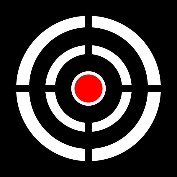 Vector clip art of target aim
