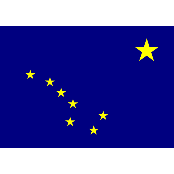 Flag of Alaska, USA