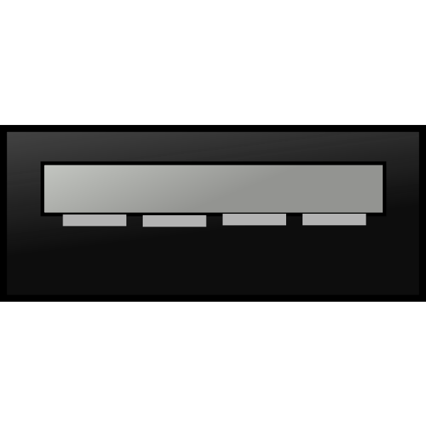 Vector illustration of grayscale flashy USB memory stick