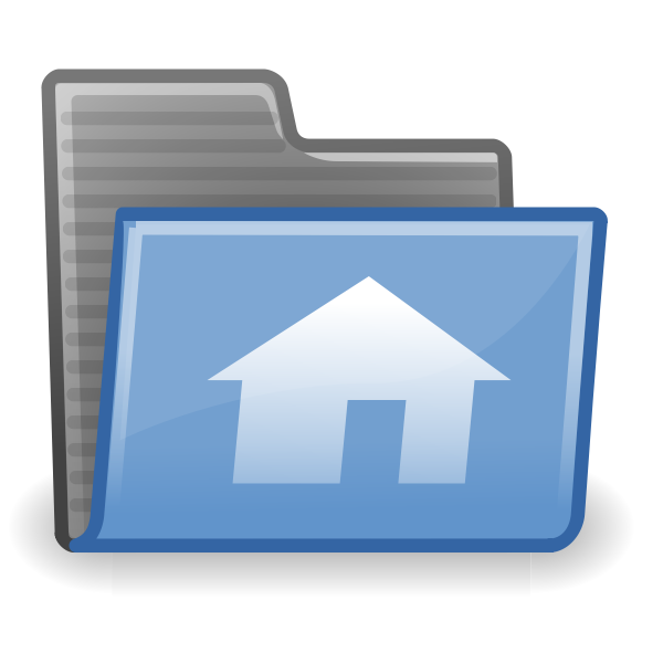 Vector drawing of home folder icon vector image