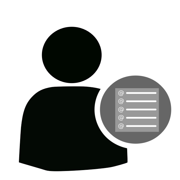 User mailing list icon