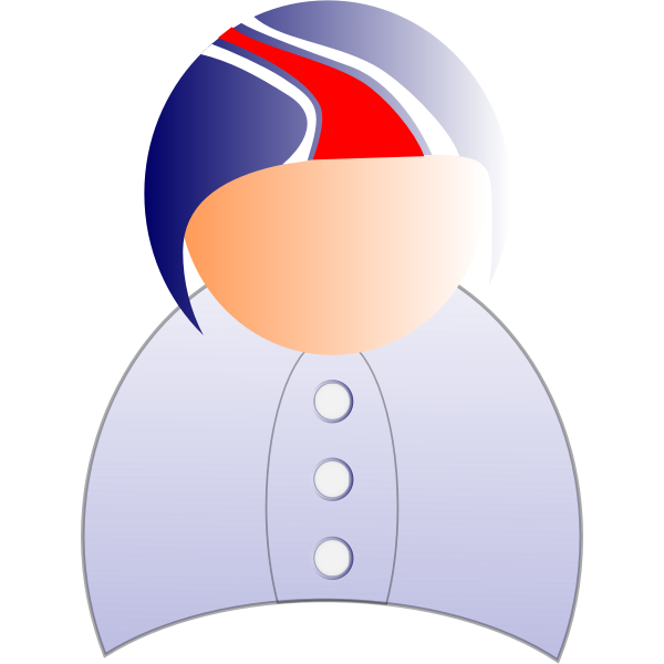 Vector illustration of male user symbol