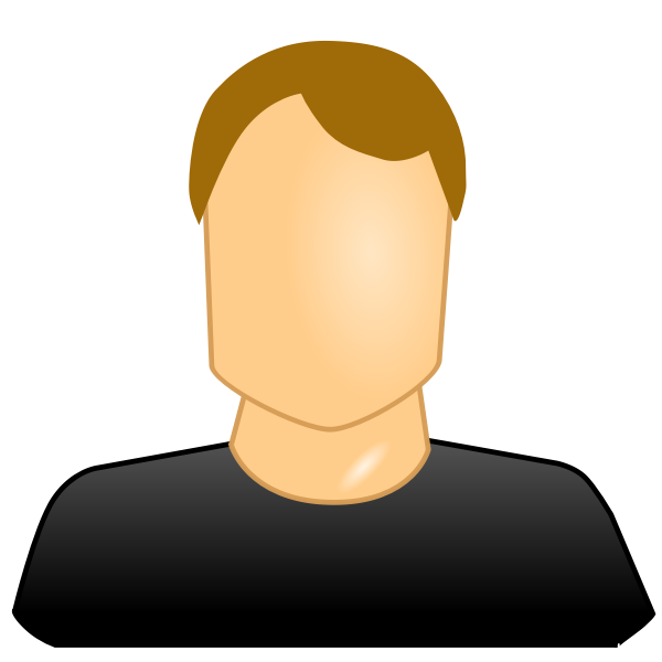 Vector image of blank face male user icon
