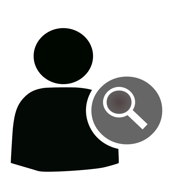 Find user vector icon