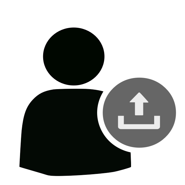 User icon upload symbol