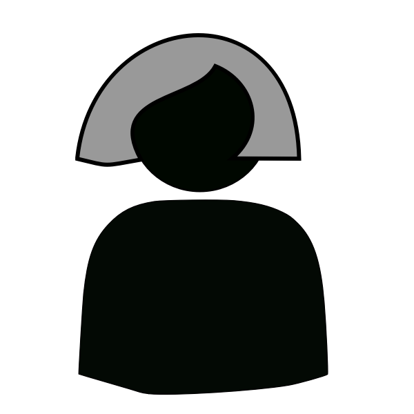 Female avatar silhouette