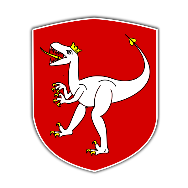 Vector clip art of coat of arms of Czech Dino