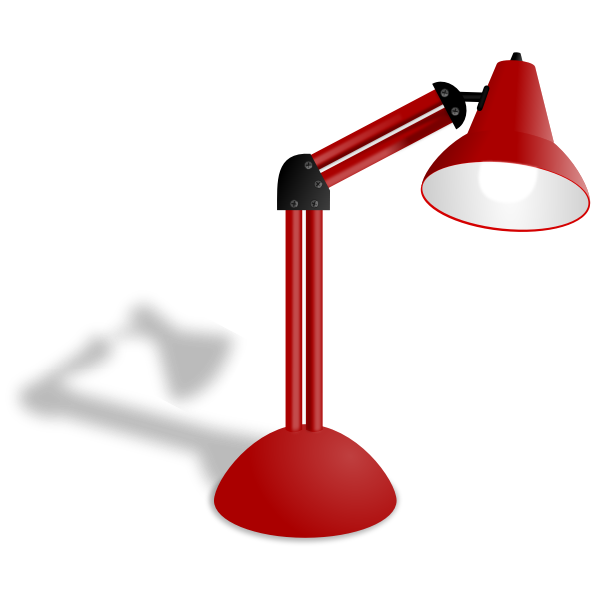 Red lamp vector illustration