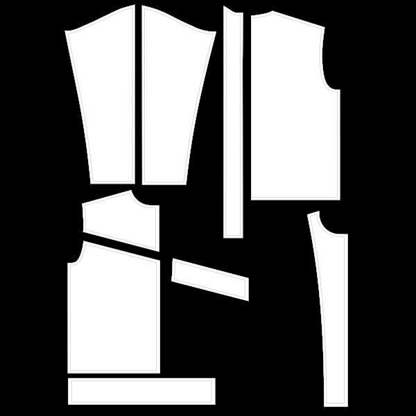 Valentina jacket sewing pattern vector image