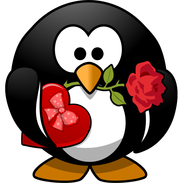 Romantic penguin