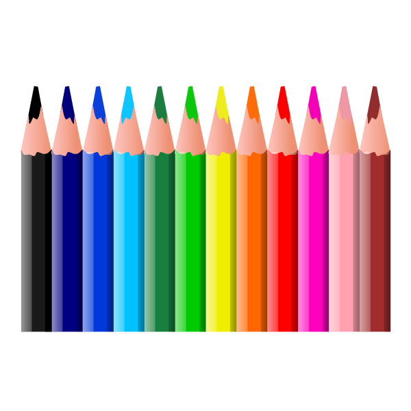 Coloring pencils vector clip art