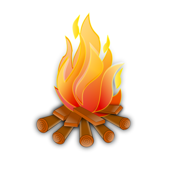 Vector image of wooden fire