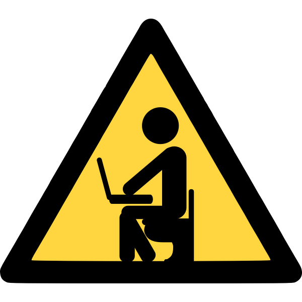Computer privacy vector sign
