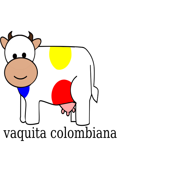 Colombian cow vector clip art