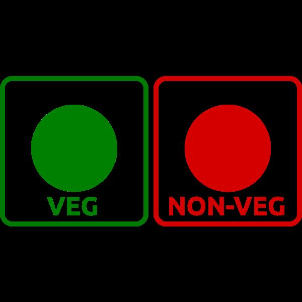 Vegan and non-vegan icon