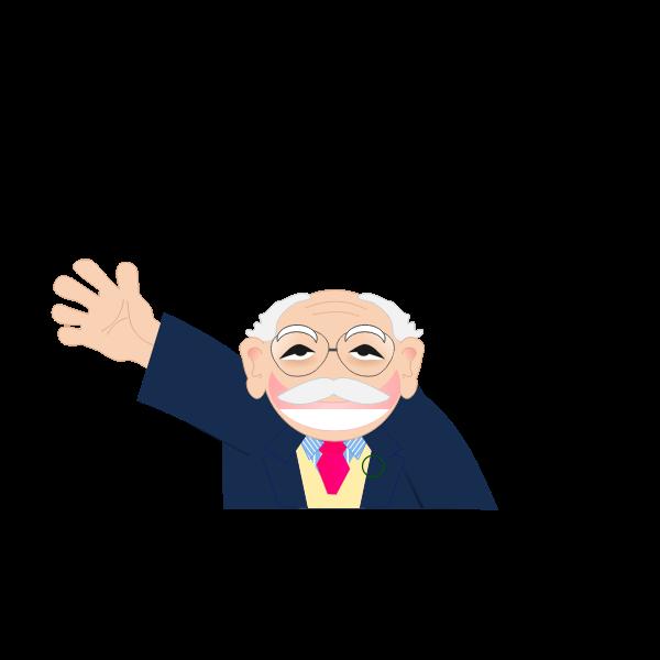 Vector clip art of cartoon old man character