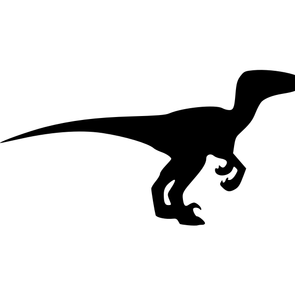 Dinosaur silhouette vector clip art