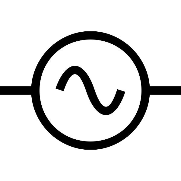 Vector image of alternating current supply symbol