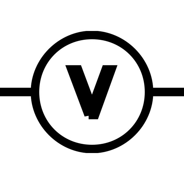 Vector illustration of volt meter symbol