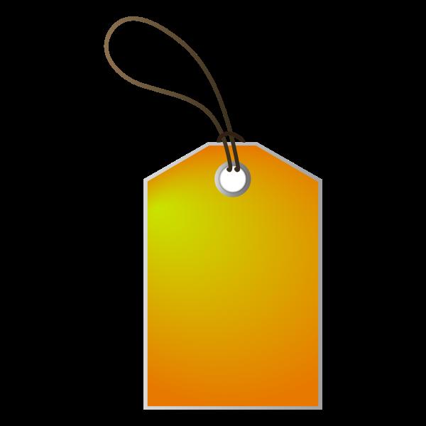 Vector clip art of orange shadow price tag