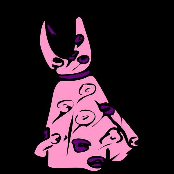 Pink dress vector image