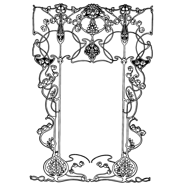 Art Noveau style border vector illustration