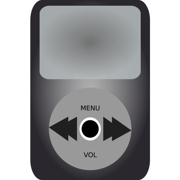 iPod media player vector illustration