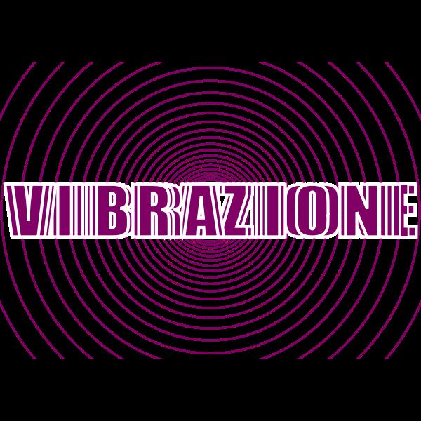 Vibrazione word logo design