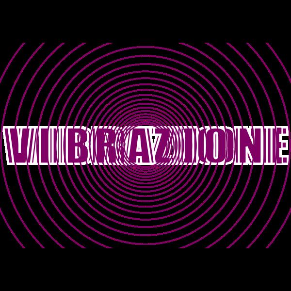 Vibrazione text logo design