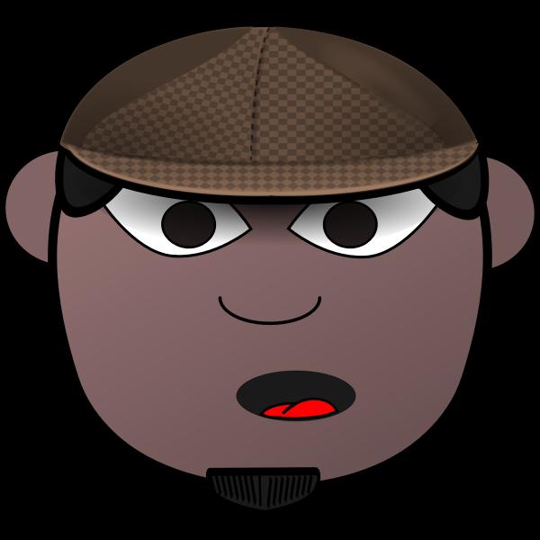African man's head