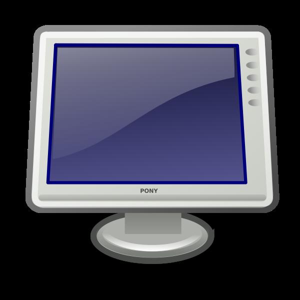 Tango video display icon vector image