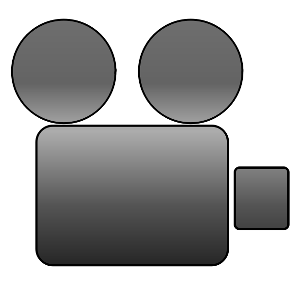 Vector image of video camera icon