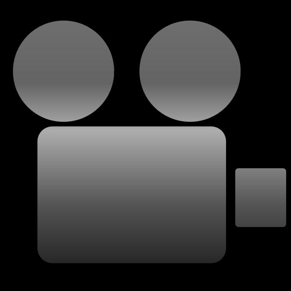 Vector image of video camera icon