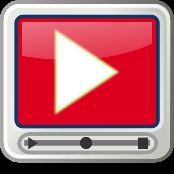 tango style video player icon