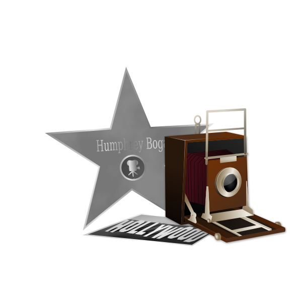 Star photographer vector image