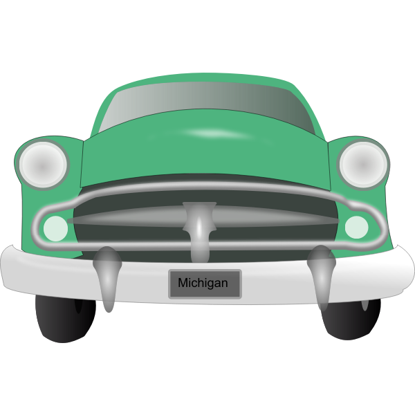 Old car vector drawing