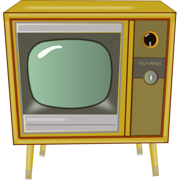 Vintage TV vector graphics