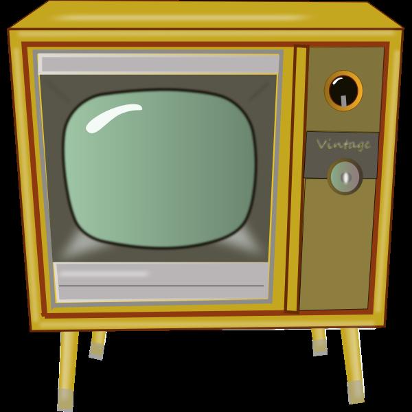 Vintage TV vector graphics