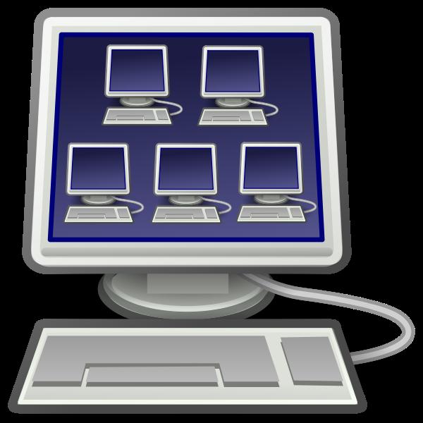 Tango computer icon vector image