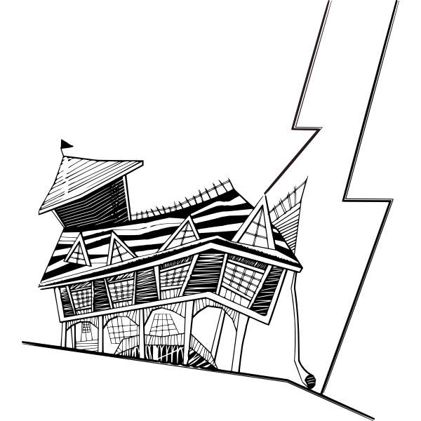 Crooked house vector image